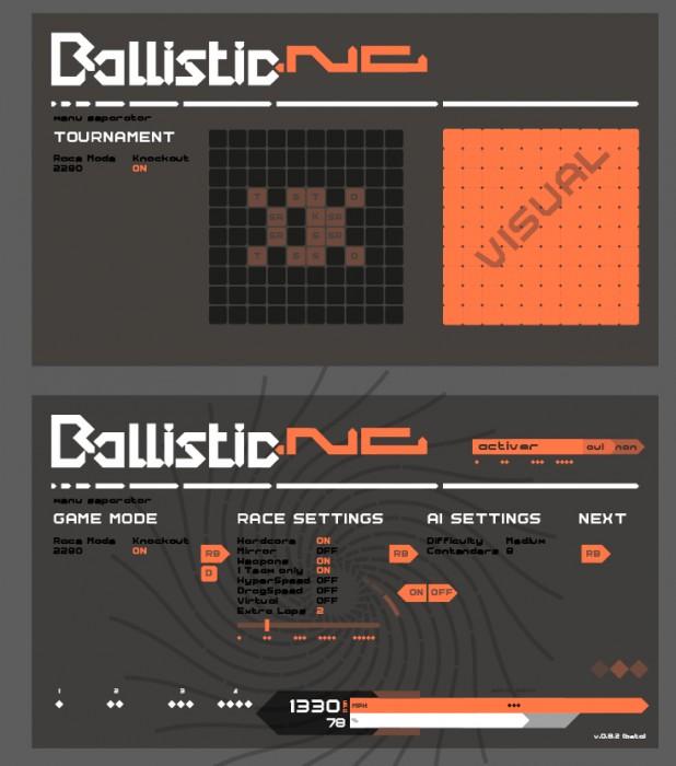 BallisticNG test UI