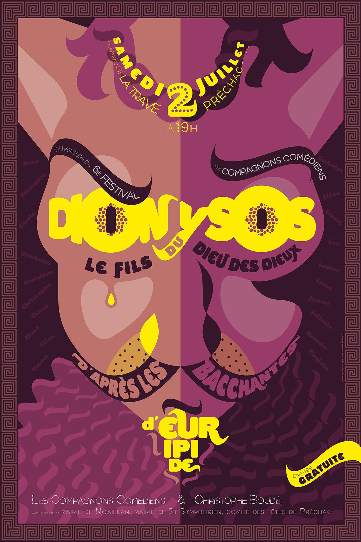 Affiche Dionysos DEF PRINT avec cadre
