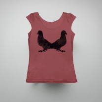 Tee Pigeon Rorschach Frose